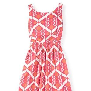 Boden US 14 Beatrice Pink Coral White Dress WH769